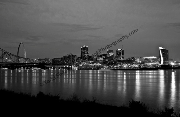 St. Louis Skyline in B&W